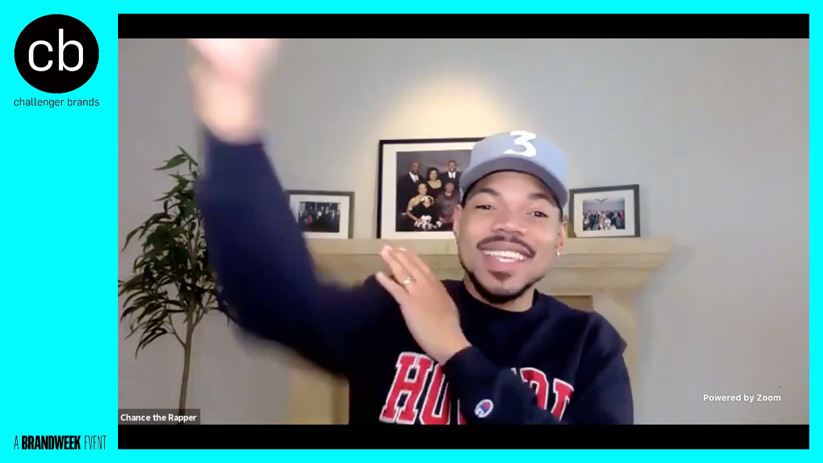 chance the rapper smiling on a zoom call