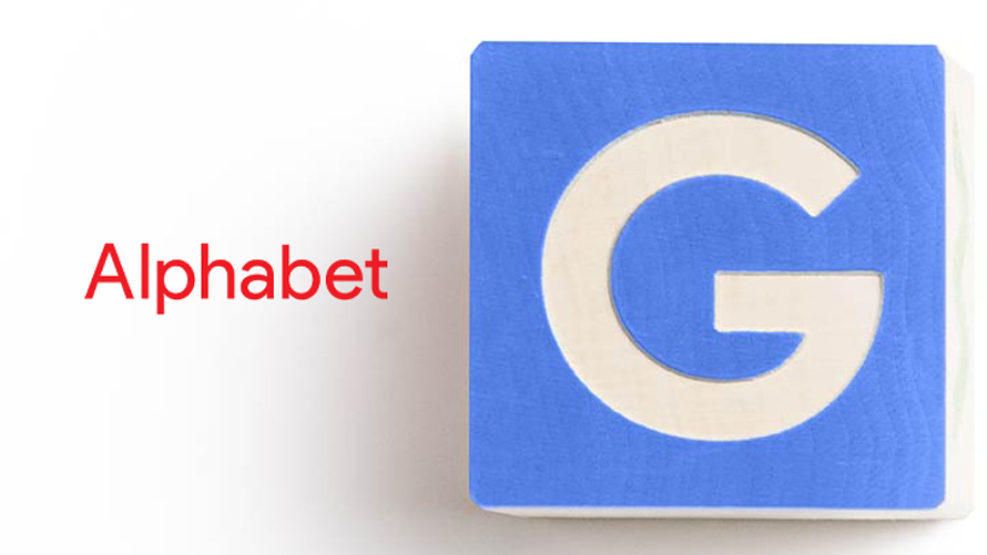 alphabet and google logos