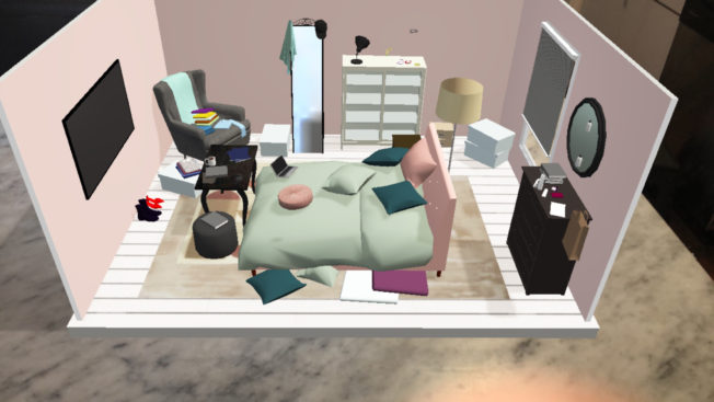 Ikea's virtual escape room asks users to organize a cluttered room.