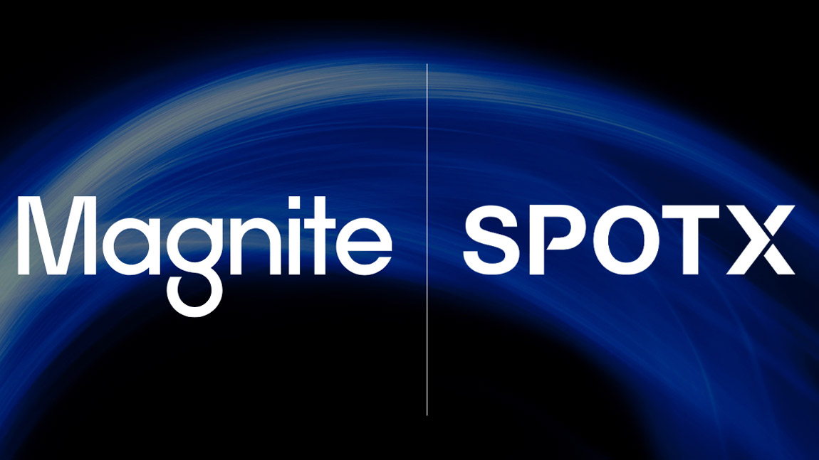 Magnite and SpotX logos