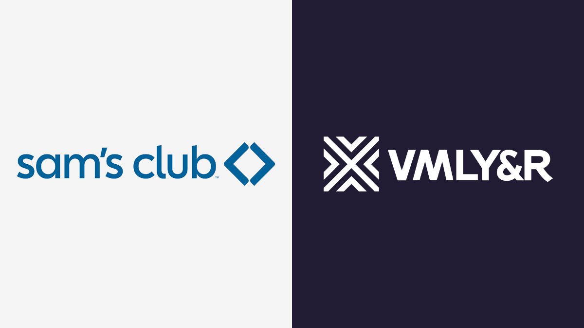 sam's club logo on left and vmly&r logo on right