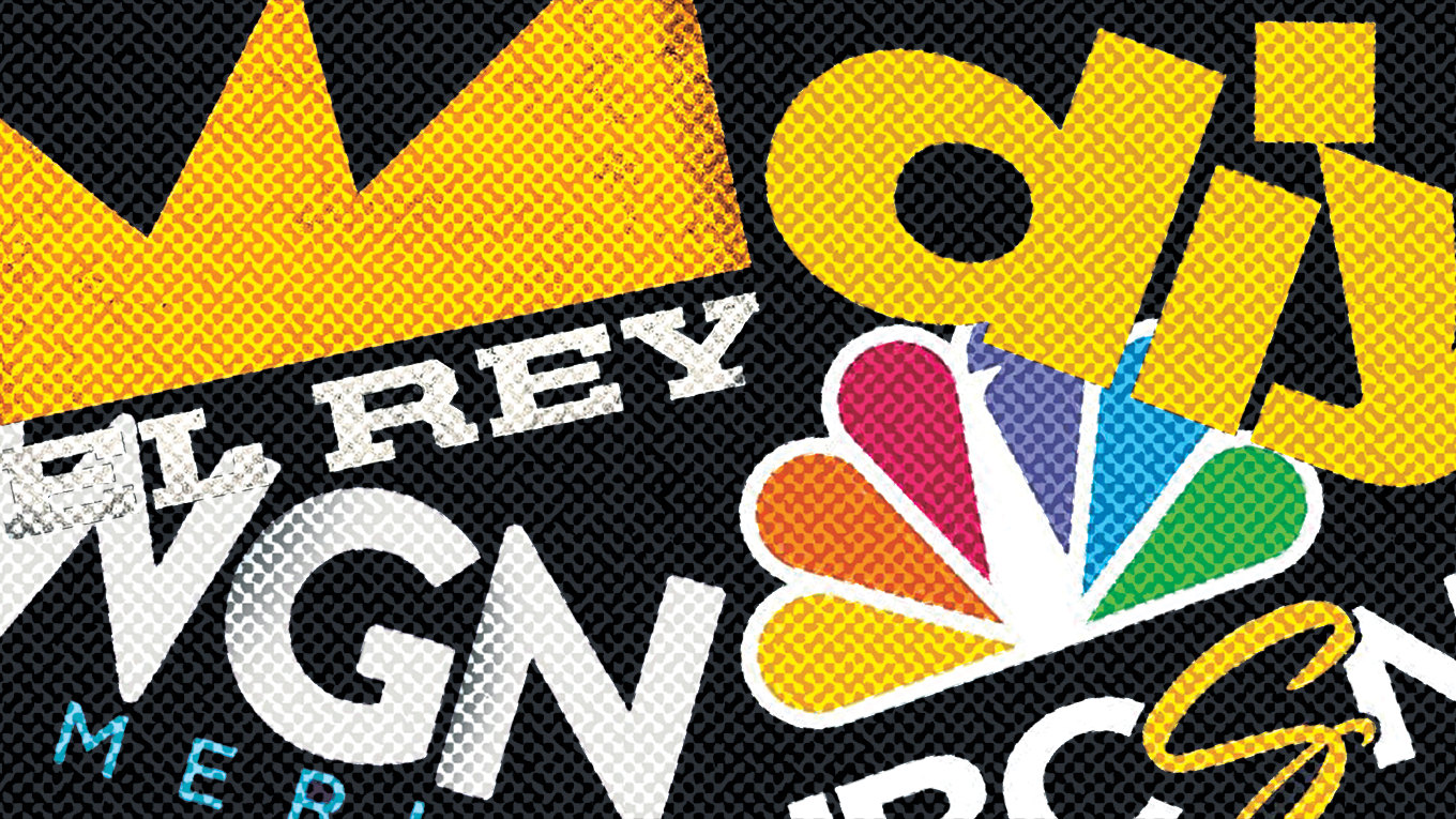 collage of network logos El Rey, WGN America, DIY and NBCSN