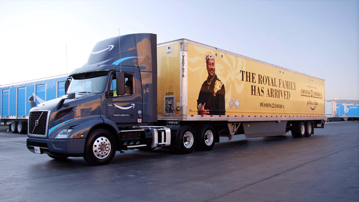 For eight weeks, 220 Amazon delivery vans, four trucks and one plane will be wrapped in ads for the movie.