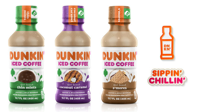The new Dunkin' bottled coffees capture fan-favorite flavors like thin mints, s'mores and coconut caramel.