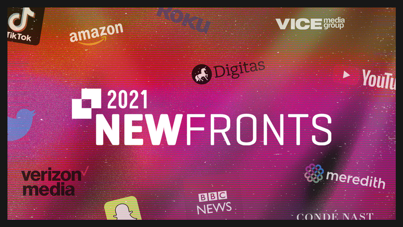 NewFronts logo with other company logos