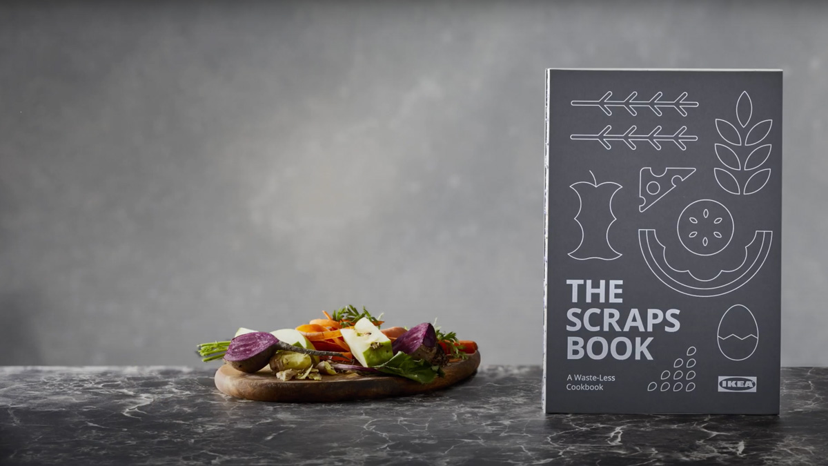 Ikea's Scrapsbook invites home cooks to recycle ingredients and avoid food waste.