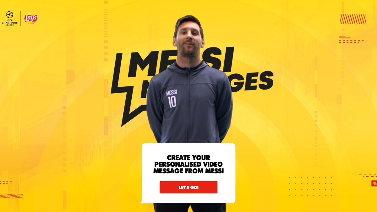 an app showing lionel messi