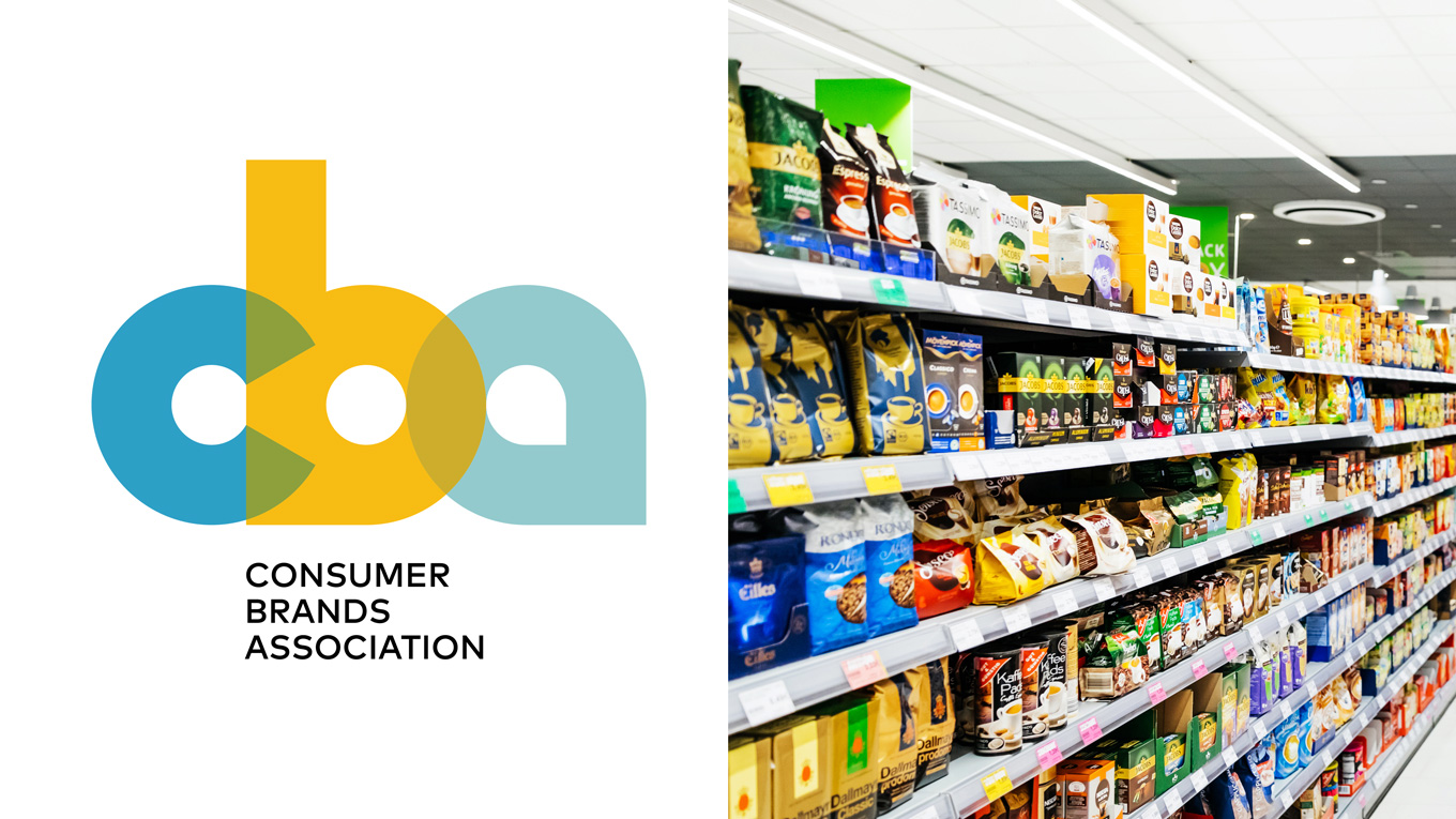 The Consumer Brands Association logo and food