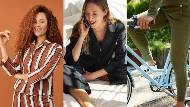 three panels each with one woman modeling ThirdLove loungewear