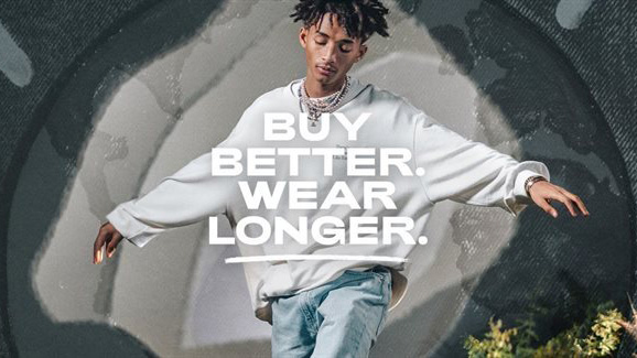 This Levi's campaign aims to promote the brand's sustainability credentials.