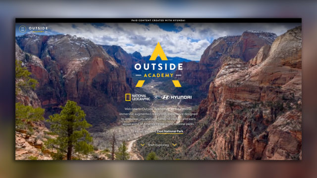 The first Instagram AR experience, of Zion National Park, debuted on April 25.