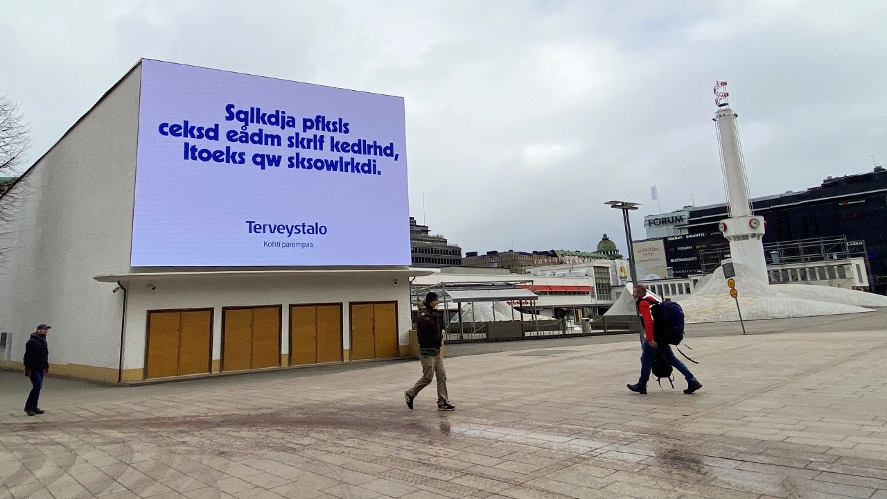 World Vision Finland, which campaigns for child education worldwide, convinced brands to run real billboard ads with a fake, made up language that nobody could understand.