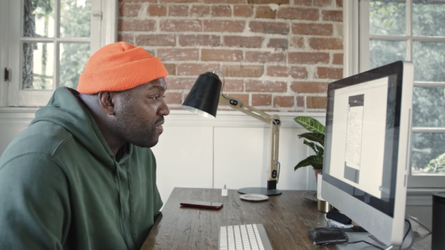 The video chronicles Corey Cambridge's efforts to use Ancestry to examine his family tree.