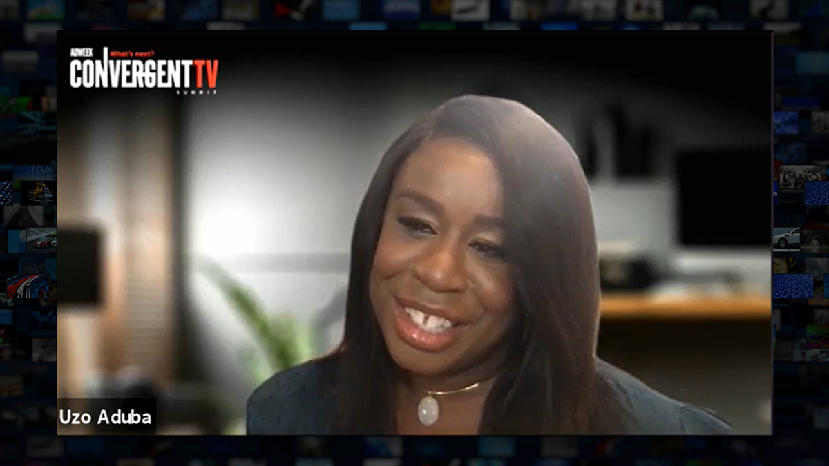 Three-time Emmy winner Uzo Aduba spoke at Adweek's Convergent TV Summit.