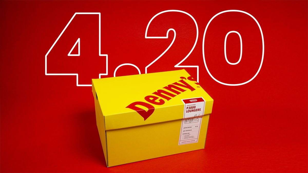 Denny's is dropping a footwear extension on 4/20, with a few early hints but no reveal.