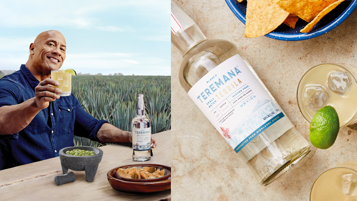 Dwayne 'The Rock' Johnson with his tequila brand