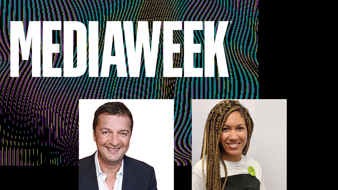 Mediaweek logo with photos of Sasha Savic and Raquel Wilbun