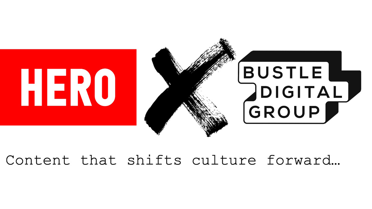 Hero and Bustle Digital Group logos side by side