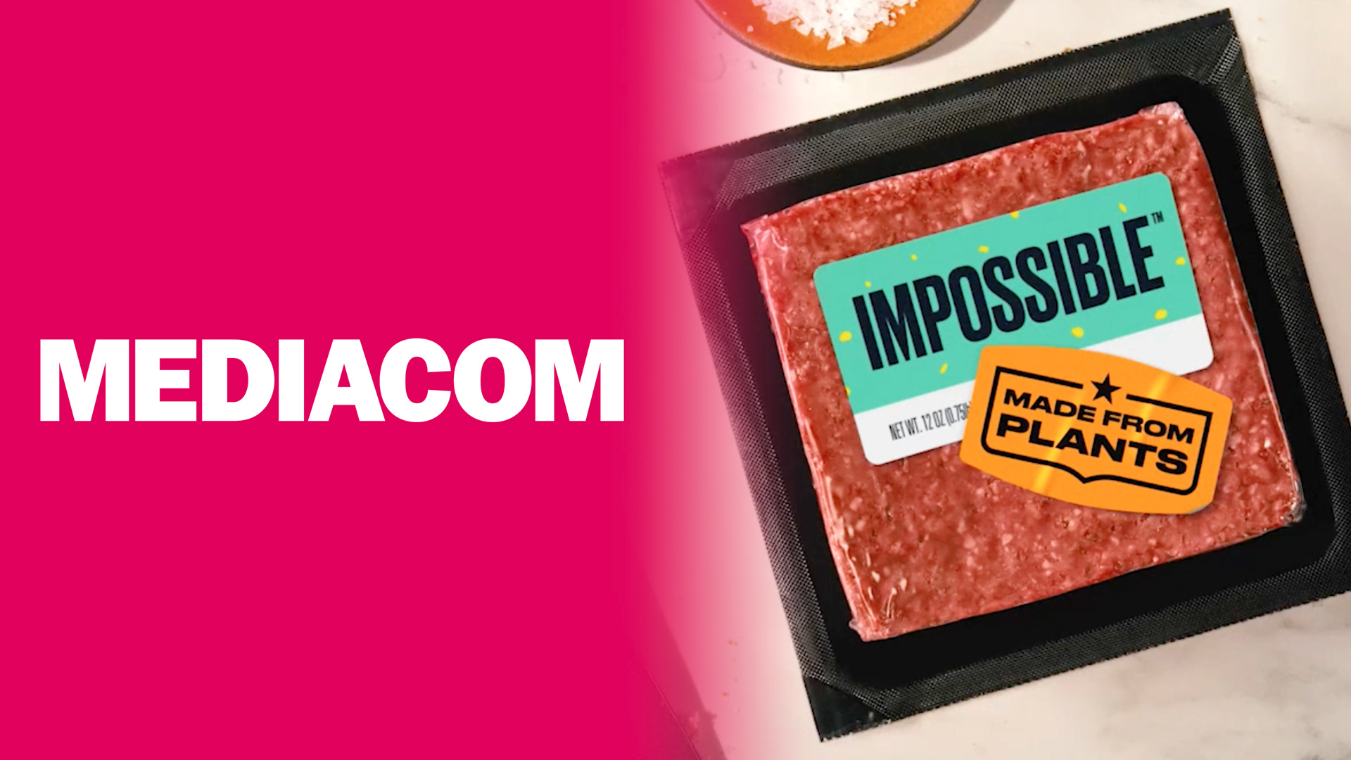 MediaCom and Impossible Foods logo