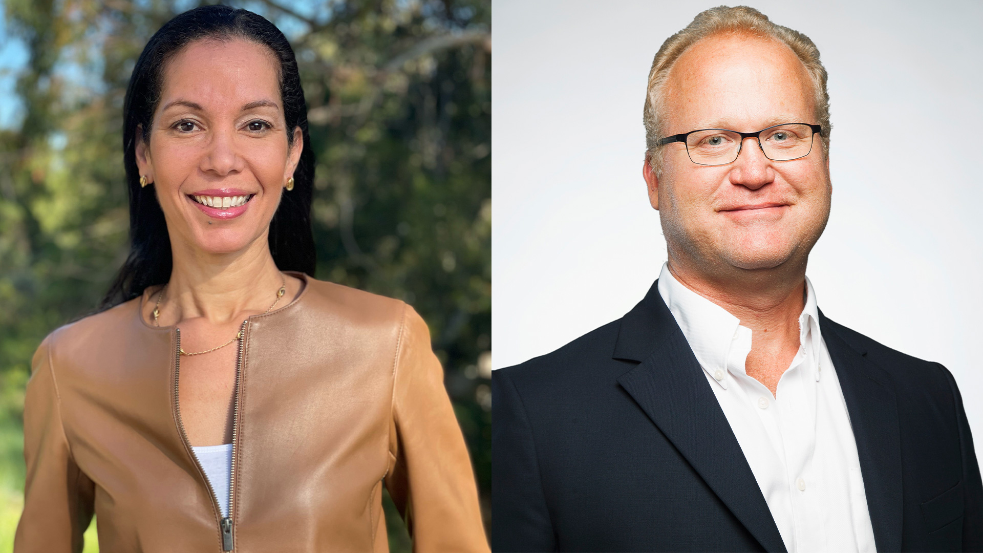 Marlene Pelage-Bates joins IPG Mediabrands from Charles Schwab while Guy Beach, left, will move into a role as global president.