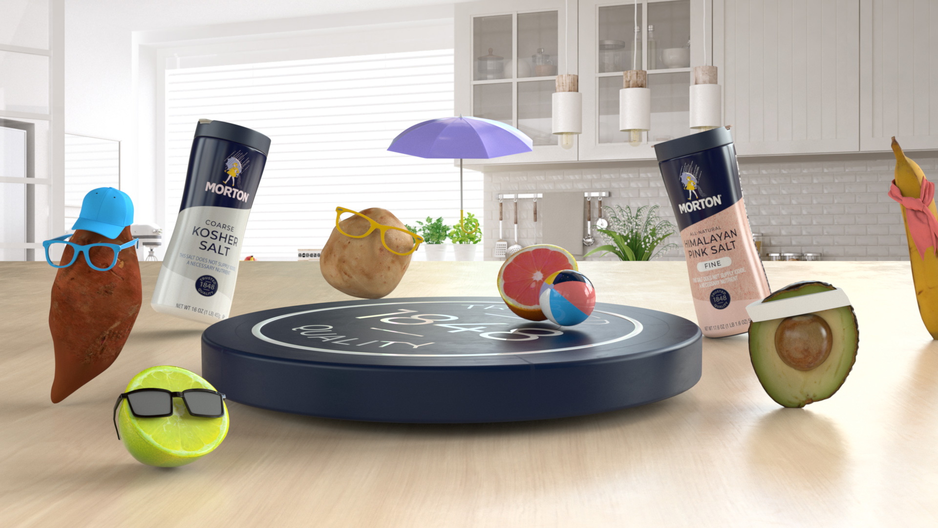 Fruits and vegetables get paired with recipes on Morton Salt's new AR app.
