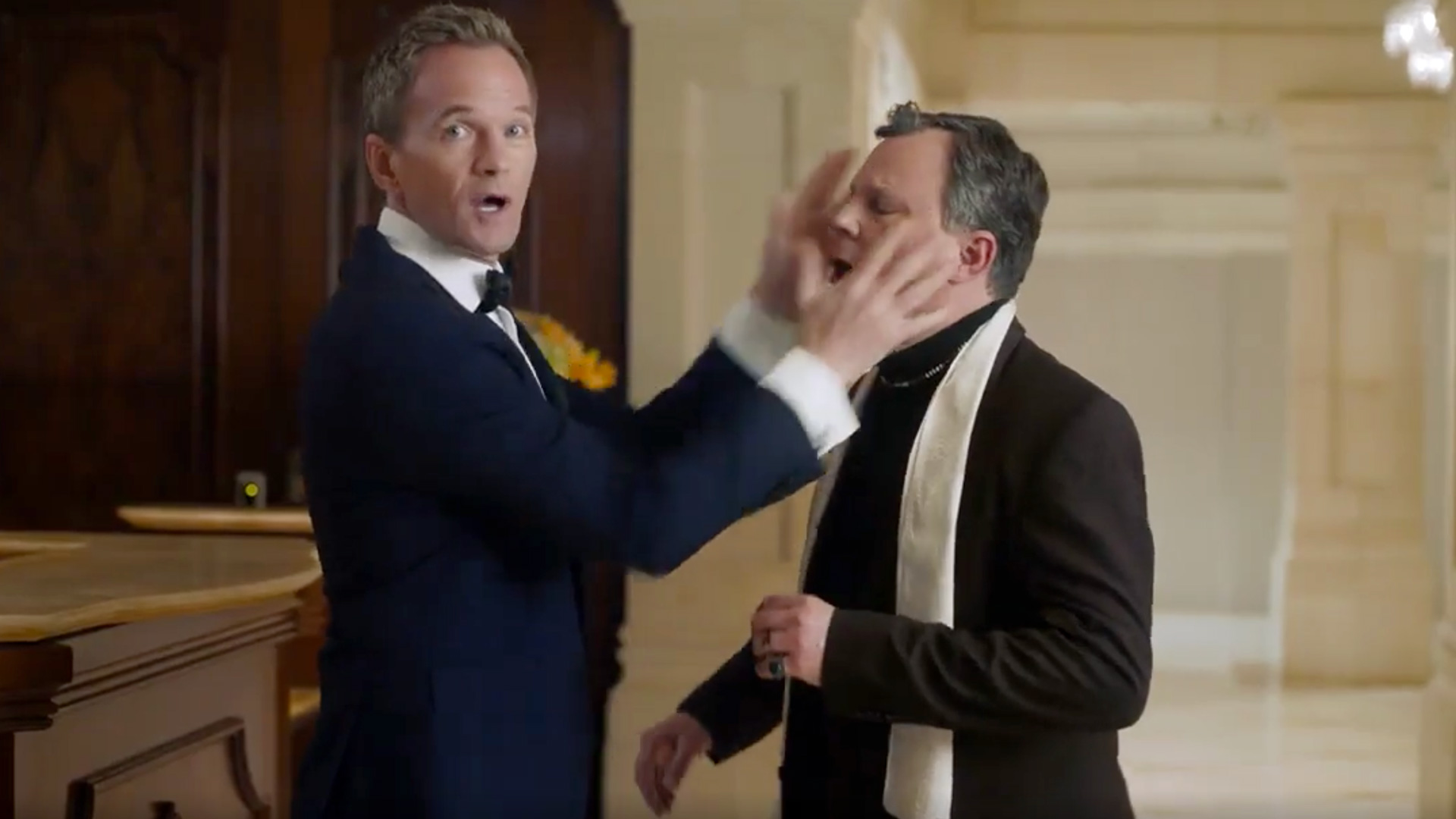 neil patrick harris grabbing someone's face