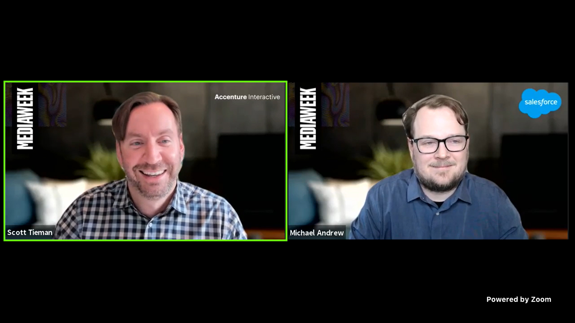 Accenture's Scott Tieman spoke with Salesforce vp of data, AI and personalization Michael Andrew at Adweek's Mediaweek.