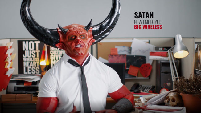 Still of Satan in new Mint Mobile ad