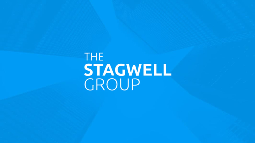 the stagwell group on a blue background