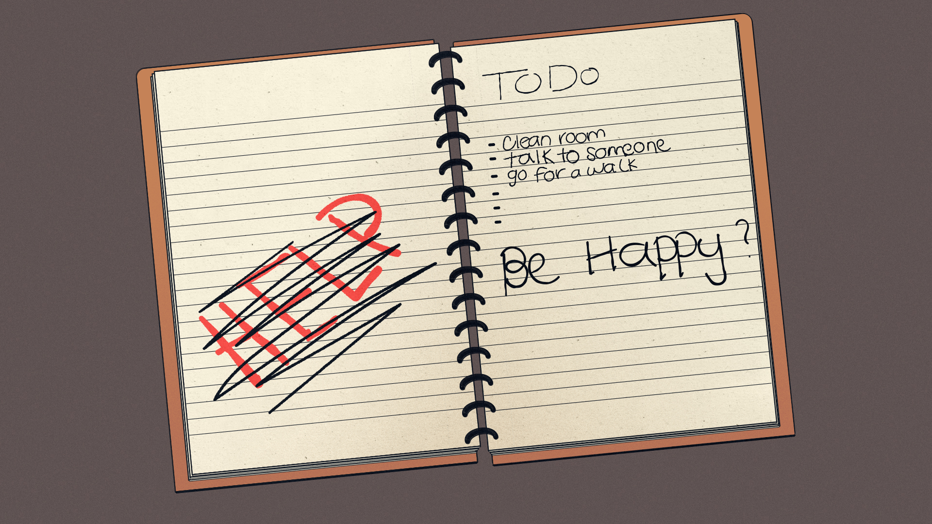 a notebook with