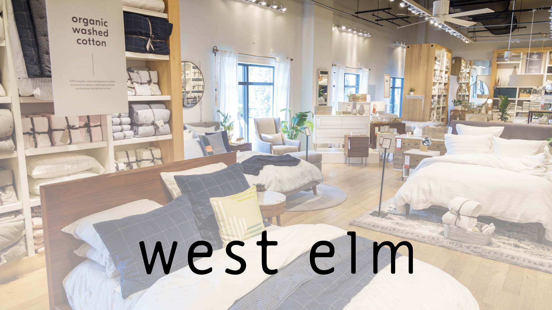 the inside of a west elm store