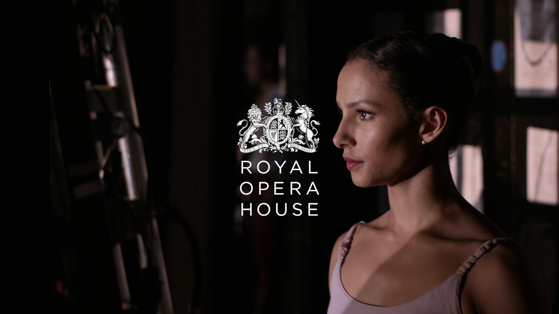 Ballerina awaits at the side of Royal Opera House stage