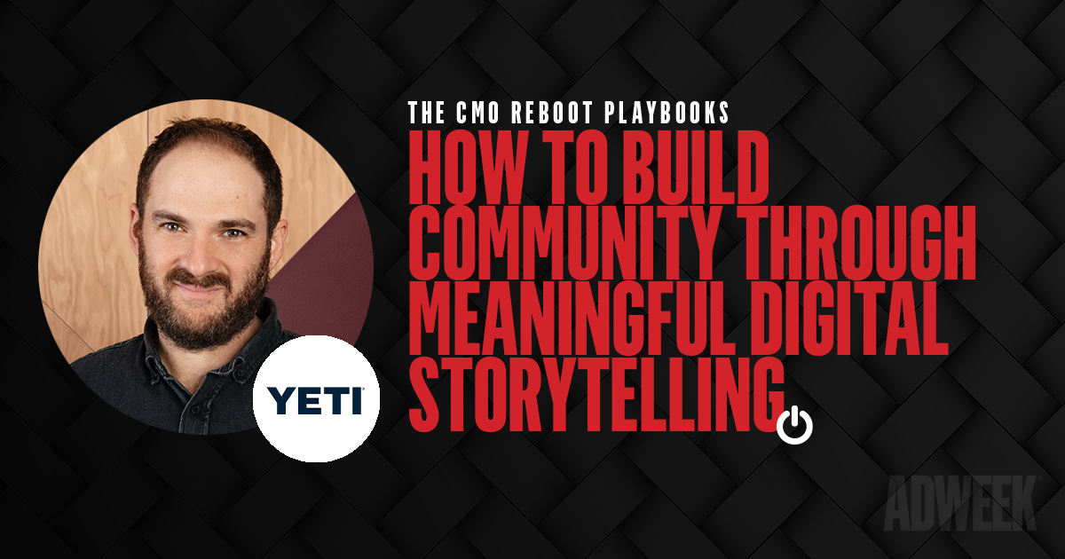 Paulie Dery headshot. Text: CMO Reboot Playbooks. How to Build Community Through Meaningful Digital Storytelling.