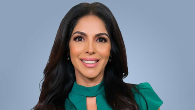 EstrellaTV interim vp of news and national news anchor Mirthala Salinas is a mainstay on Estrella News.