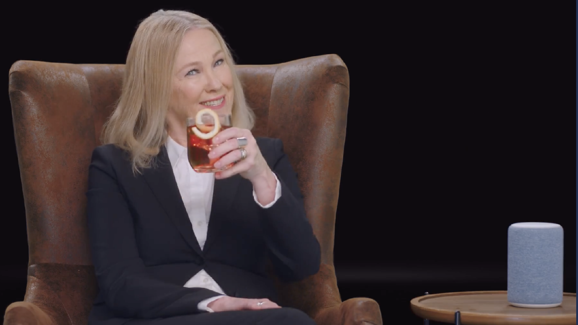 Schitt's Creek star Catherine O'Hara emceed Amazon's NewFronts debut.