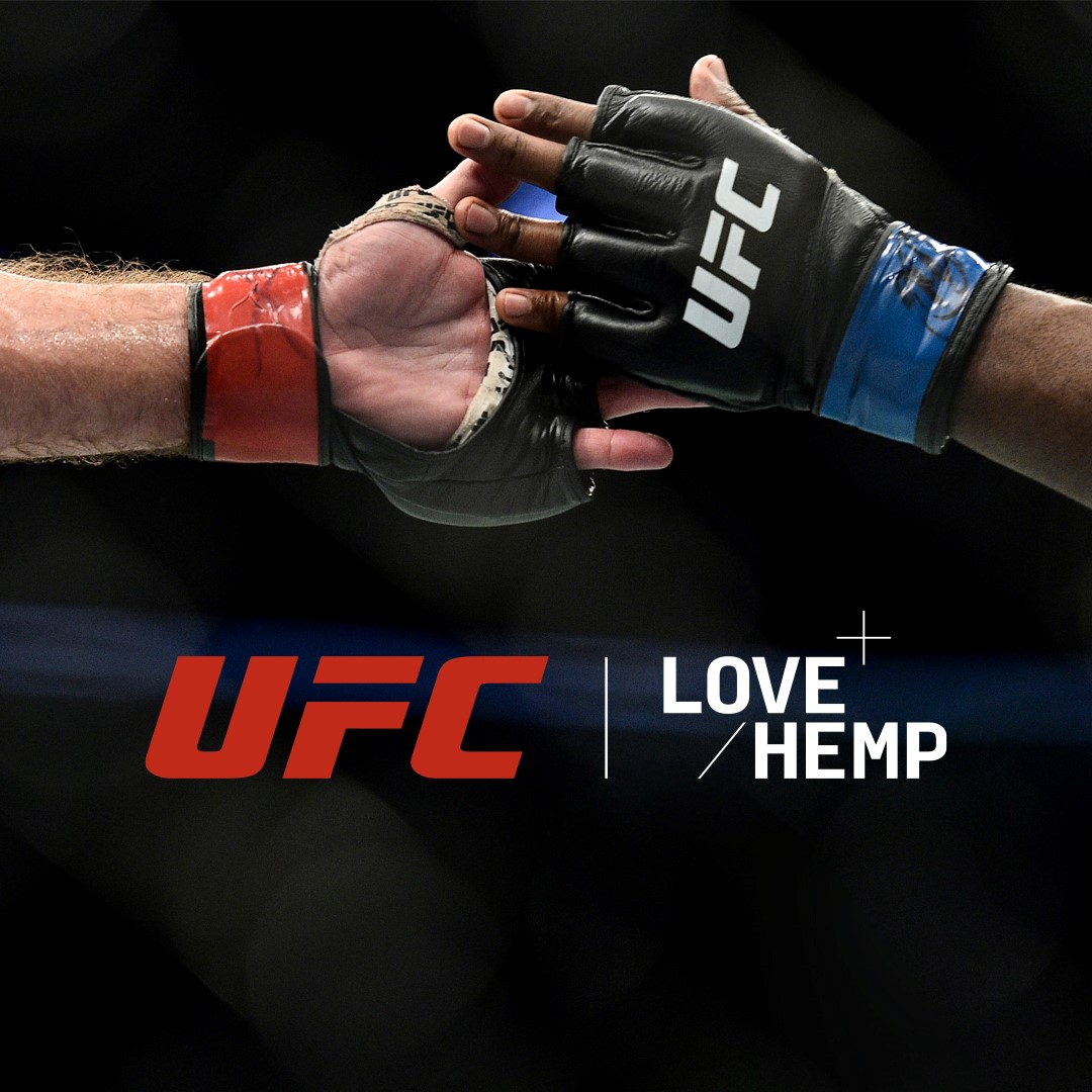 UFC fighters slap hands in close up