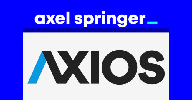 Axios and Axel Springer are reportedly considering a merger.