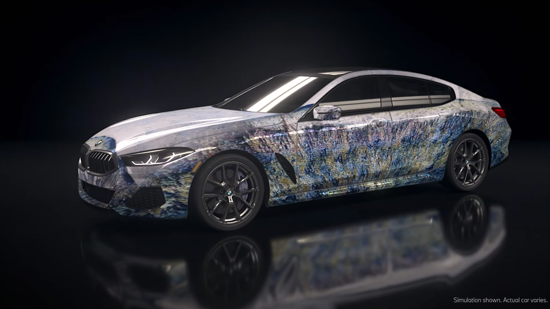 BMW created an generative algorithm to project art onto its 8 Series Gran Coupe line.