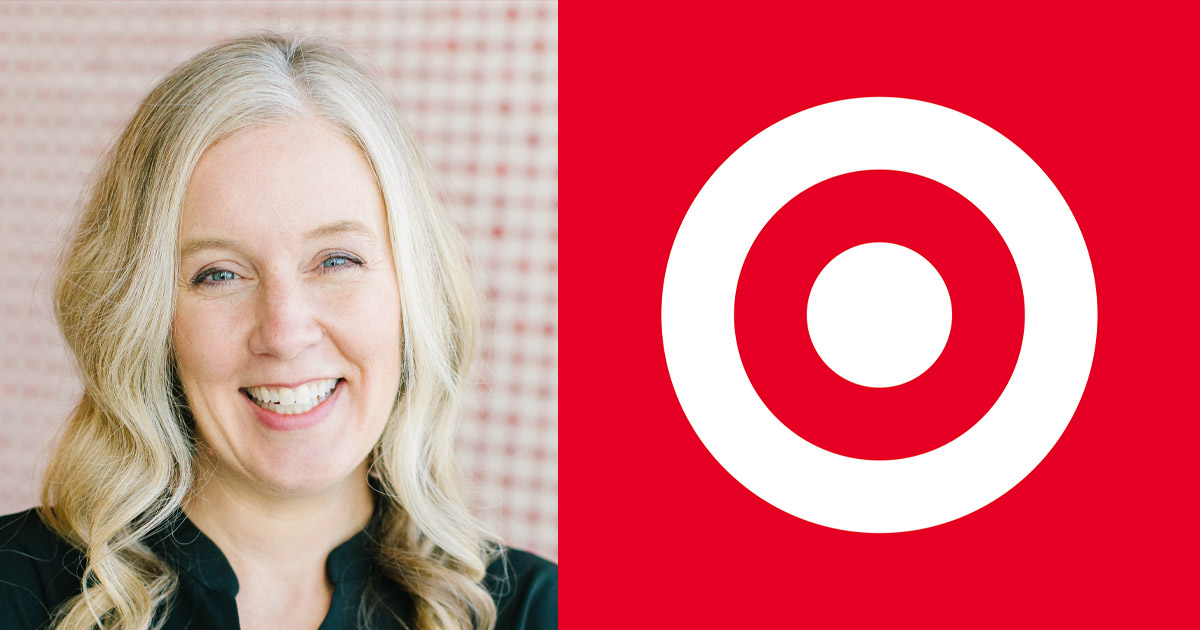 Photo of Cara Sylvester and the Target logo