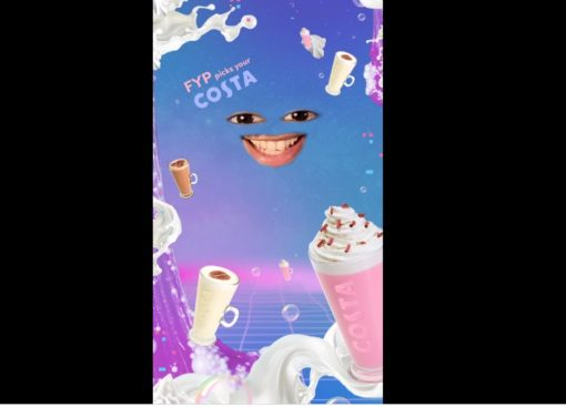 Costa Coffee TickTock video promotes two of its menus items