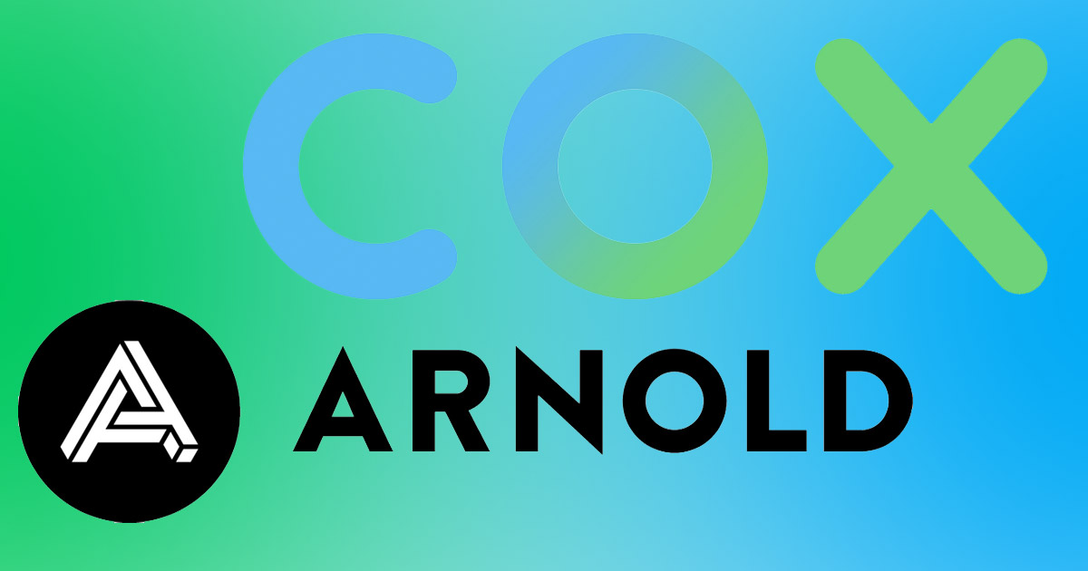 Logos for Arnold and Cox Communications