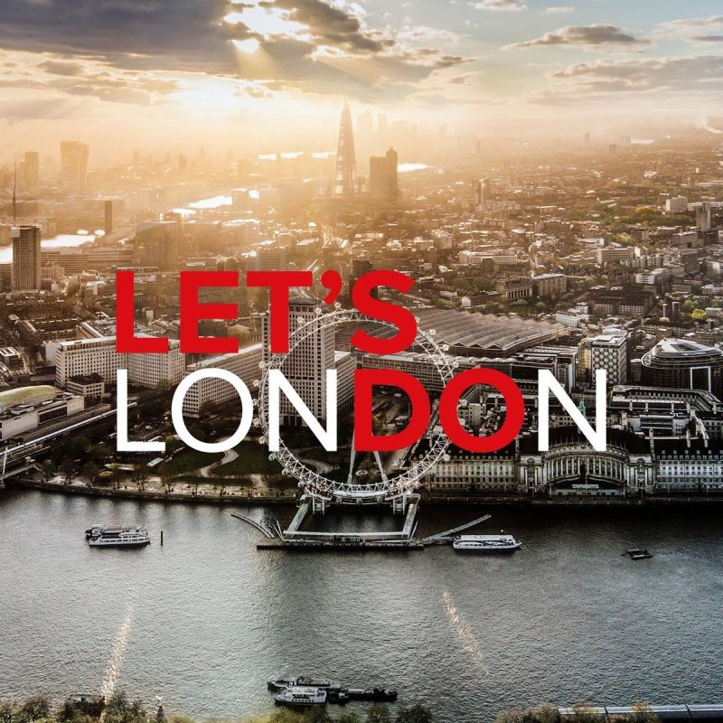 A scenescape of London with the slogan Let's Do London