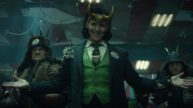 loki standing with his arms open