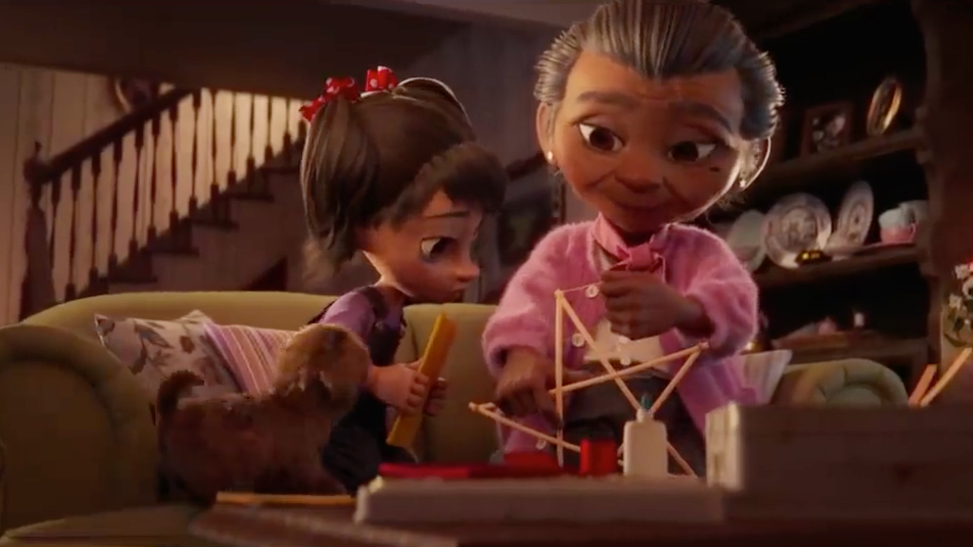 a holiday spot from Disney about Filipino grandma and granddaughter