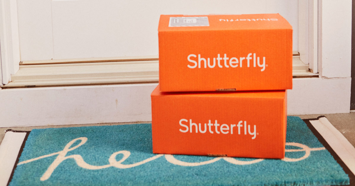 Shutterfly boxes on a