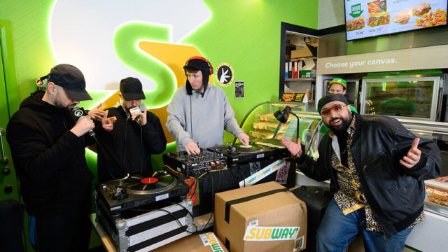 The Kurupt FM crew take over Subway