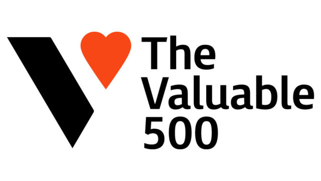 Logo for global disability network The Valuable 500