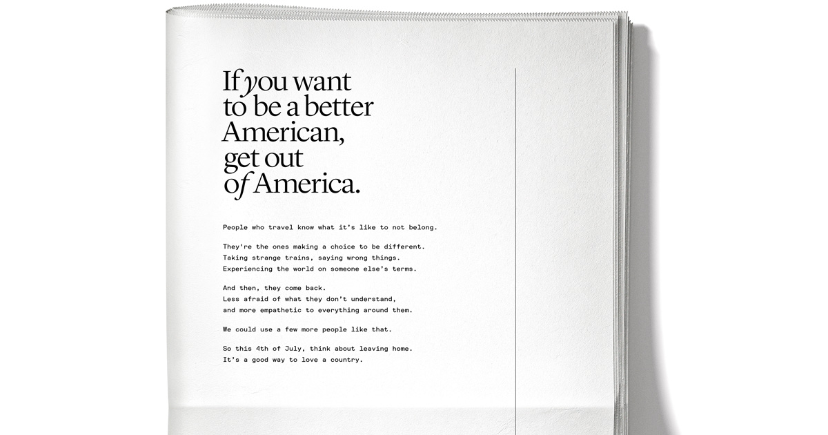 Away's 4th of July ad