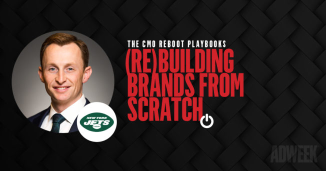 Tim Kemp headshot accompanied by text: CMO Reboot Playbooks. (Re)Building Brands From Scratch.