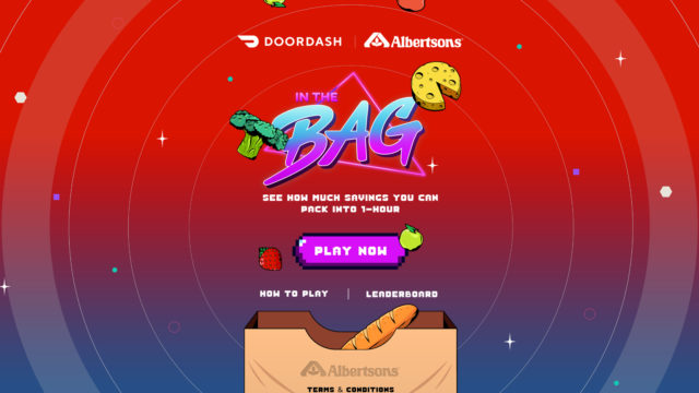 A screenshot of a new pixelated video game by DoorDash and Albertsons